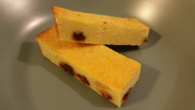 Home-made cycling food - polenta cake